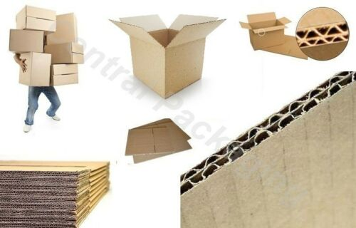 """Removal box NEW 10 X LARGE DOUBLE WALL 18x12x12/"""" Cardboard House Moving Boxes"""