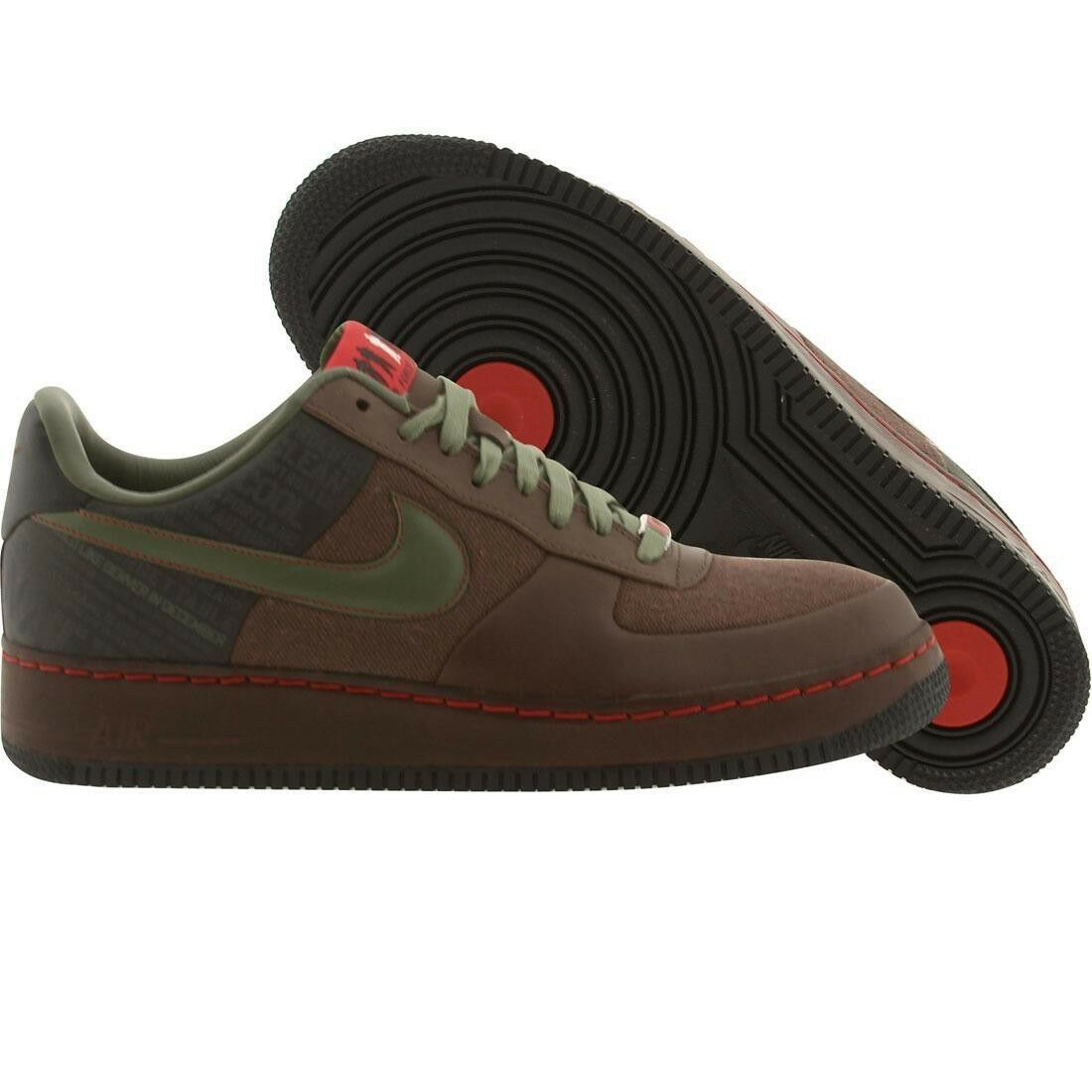 315339-211 Nike Air Force 1 Low PRM Original Six - Calvin Natt Baroque Brown Seasonal clearance sale