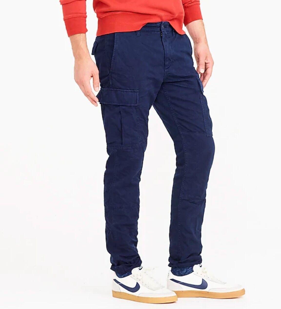 JCREW da uomo 484 Slim Pantaloni con con con tasconi in Blu Scuro 31 30 RRP 89.50 100% COTONE 1ce77c