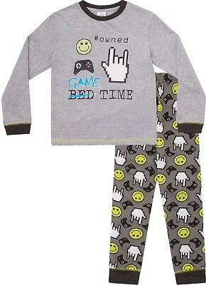 Garçons Game Over Long Pyjama 8 To 15 ans Jeu d/'ordinateur AOP