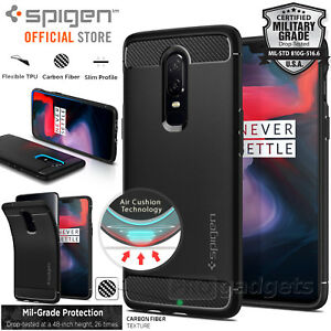 sports shoes 98c94 ae46f Details about OnePlus 6 Case, Genuine SPIGEN Rugged Armor Resilient Soft  Cover for OnePlus