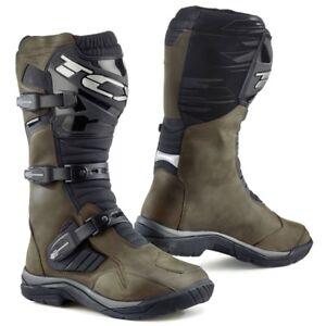 TCX-BAJA-impermeable-cuir-marron-TOUS-TERRAINS-Adventure-Bottes-moto-5-13