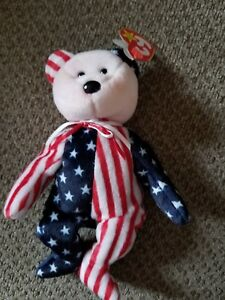 9683cb62f11 Image is loading TY-BEANIE-BABY-SPANGLE-Bear-PINK-FACE-DOB-