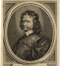 Portrait de Clarendon Chancelier d'Angleterre Gravure originale 18e siècle