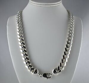 Chunky-Heavy-12mm-Solid-925-Sterling-Silver-Miami-Cuban-Link-Chain-24-034-30-034-Mens