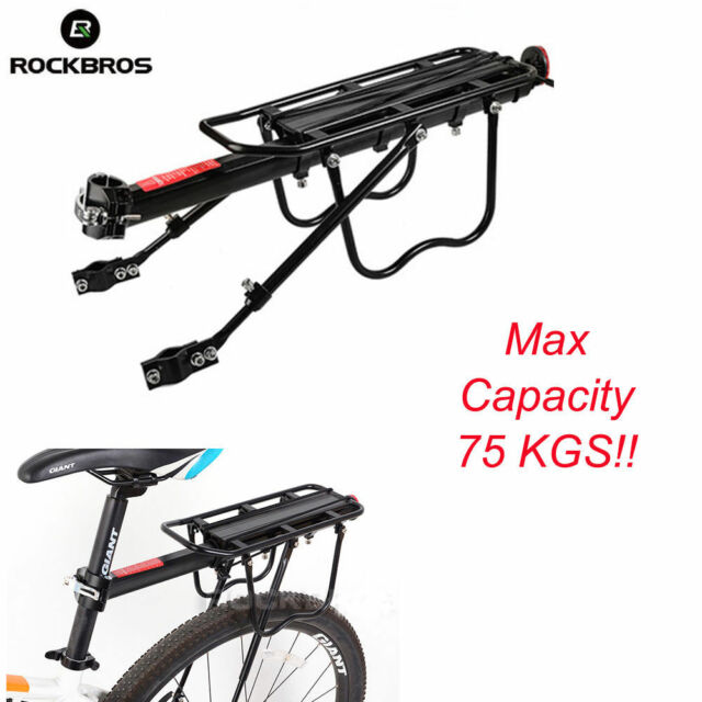 Bicycle Mountain Bike Carrier Rear Rack Seat Post Mount Pannier Luggage UK