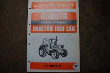 Kubota M5950 Cab Tractor Parts Manual Book Catalog List Spare Farm 1985 Factory