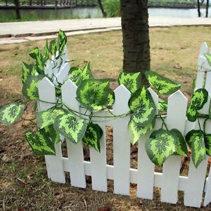 Kuenstliche-Kunststoff-Efeu-Blatt-Girlande-Pflanzen-Reben-Laub-Garten-Dekor-U1G1