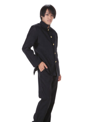 Japanese Anime Cosplay Costume Black Male Formal School Uniform Outfit
