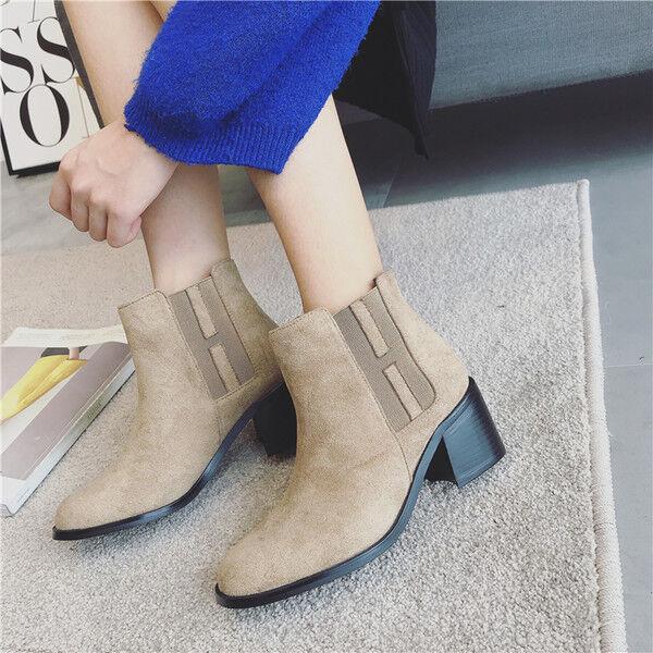 Bottes basses chaussures rangers 4 cm beige élégant comme cuir 9515
