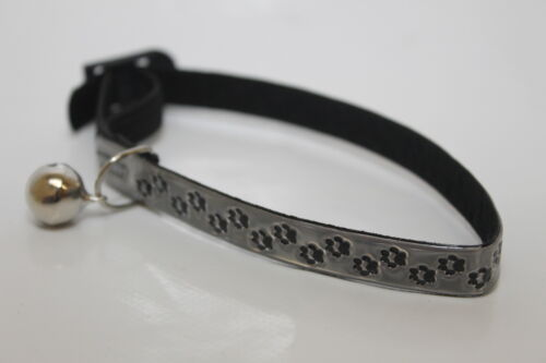 Kitten High Visability Paw Print Collar /& Bell Various Colours Safety Cat