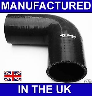 25mm to 22mm SILICONE 90 REDUCER ELBOW HOSE BLACK UK