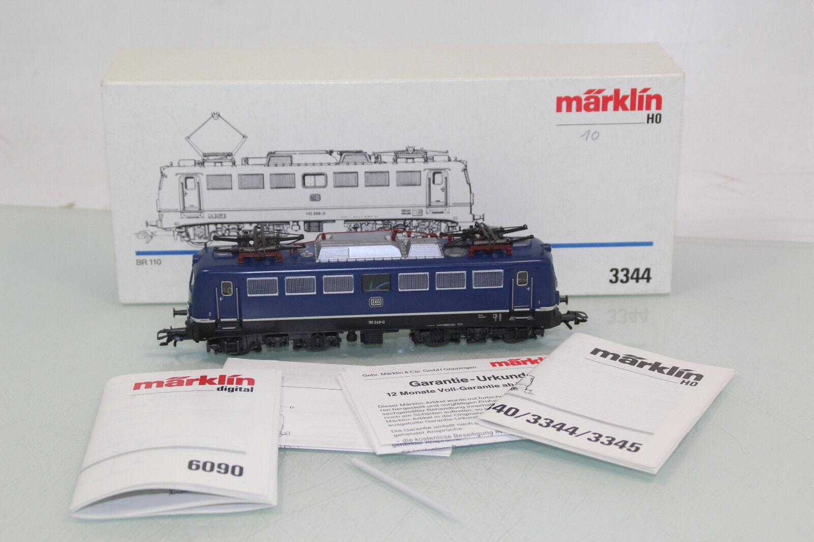 Märklin H0 3344 E-Lok BR 110 110 110 249-0 der DB Digital-Umbau in OVP (SL4613)    Mittel Preis  eb751d