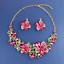 Fashion-Women-Pendant-Crystal-Choker-Chunky-Statement-Chain-Bib-Necklace-Jewelry thumbnail 89