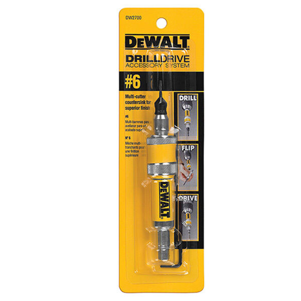 DeWALT DW2700 Drill Drive Complete Unit #6 Screwdriver Bit & Countersink Bits