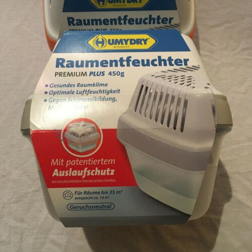 HUMYDRY Raumentfeuchter PREMIUM PLUS Grün Grau Orange Luftentfeuchter 450g
