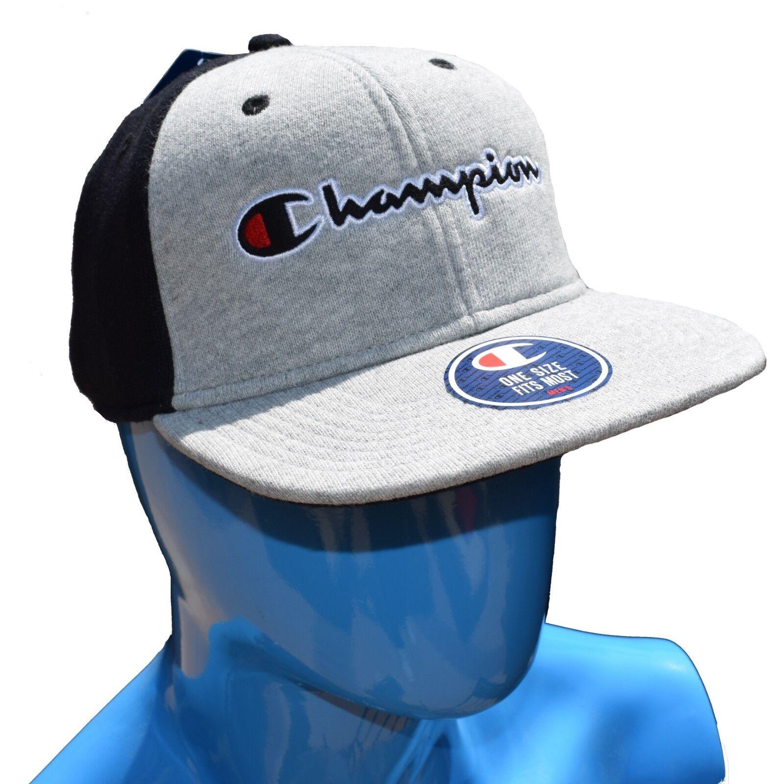 NWT Champion Reverse Weave Hat C Cap Grey Black Red C Hat Logo Rare Authentic 65d075