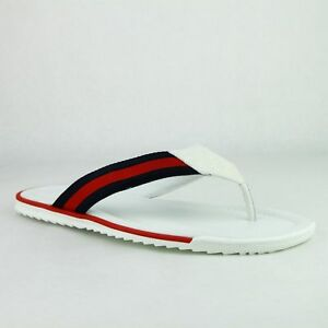 07c13e4397e6 Gucci Men s White Guccissima Leather Sandals with BRB Web 268670 ...