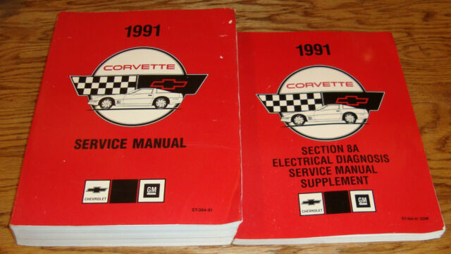 1991 Chevrolet Corvette Shop Service Manual   Wiring Diagram Supplement 91 Chevy