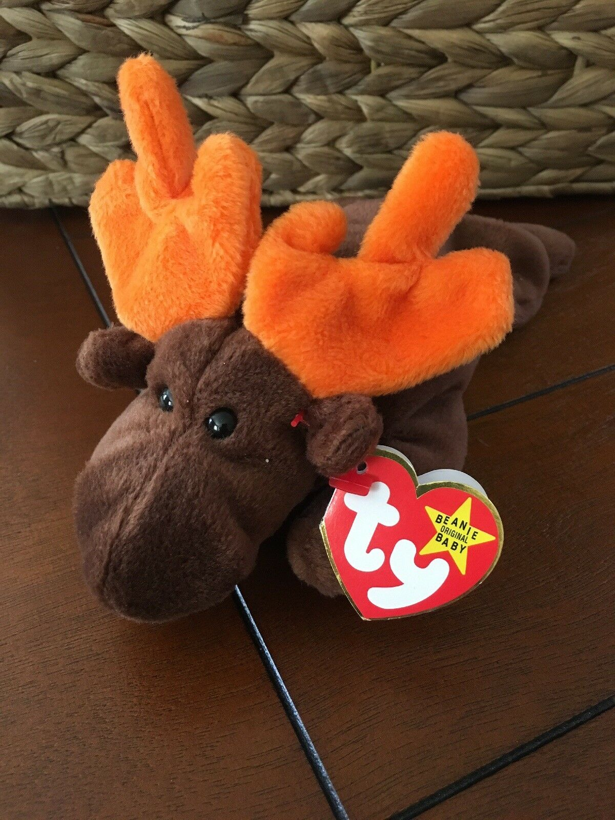 TY TY TY 1993 Chocolate The Moose Beanie Baby f47ad9