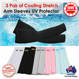 3-Pairs-Cooling-Sport-Arm-Stretch-Sleeves-Sun-UV-Protection-Covers-Golf-Cycling