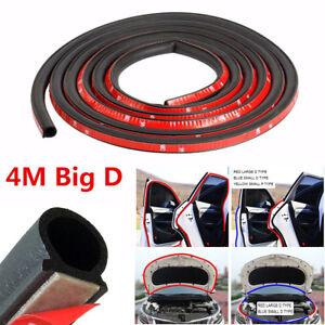 4m Black Big D Rubber Seal Genuine Adhesive Autos Engine Sealstrip Weatherstrip