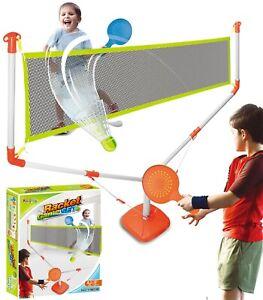 Ninos-completa-tenis-amp-Badminton-Sport-Juego-Raqueta-Pelotas-Red-Soporte-Juego-Divertido