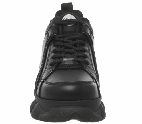 Womens Buffalo Corin Low Sneakers Black Flats