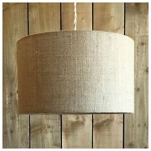 Natural hessian light shade lamp shade 25cm 30cm 35cm 40cm 45cm 50cm image is loading natural hessian light shade lamp shade 25cm 30cm aloadofball Images