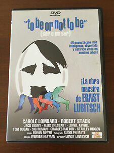 TO-BE-OR-NOT-TO-BE-SER-O-NO-SER-CAROLE-LOMBARD-amp-JACK-BENNY-1-DVD-93-MIN