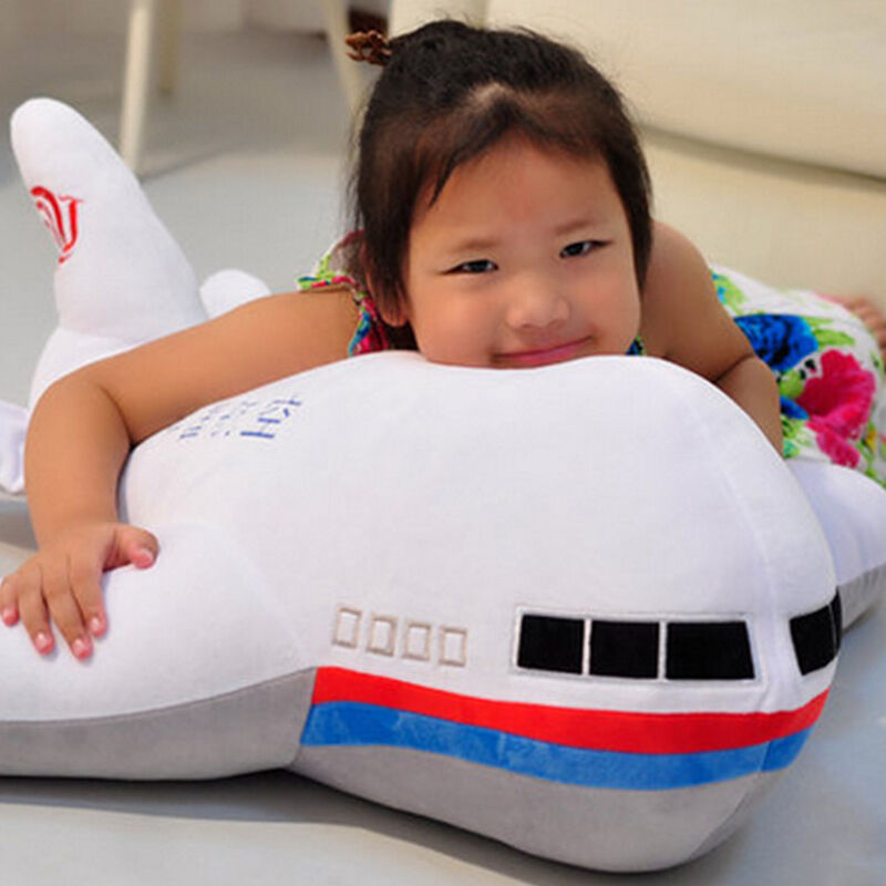95cm Airplane Plush toys Large Soft Simulated Cartoon 37'' Big Big Stuffed Aircraft