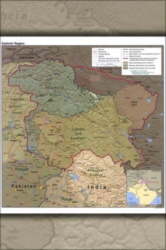 Poster Many Sizes; Cia Map Of Jammu And Kashmir India 2004