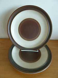 Image is loading Denby-Pottery-Wheel-Rust-2-Dinner-Plates-10- & Denby Pottery Wheel Rust 2 Dinner Plates 10 1/8\