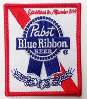 Pabst Blue Ribbon Beer Emroidered Jacket Vest 3 Inch Patch