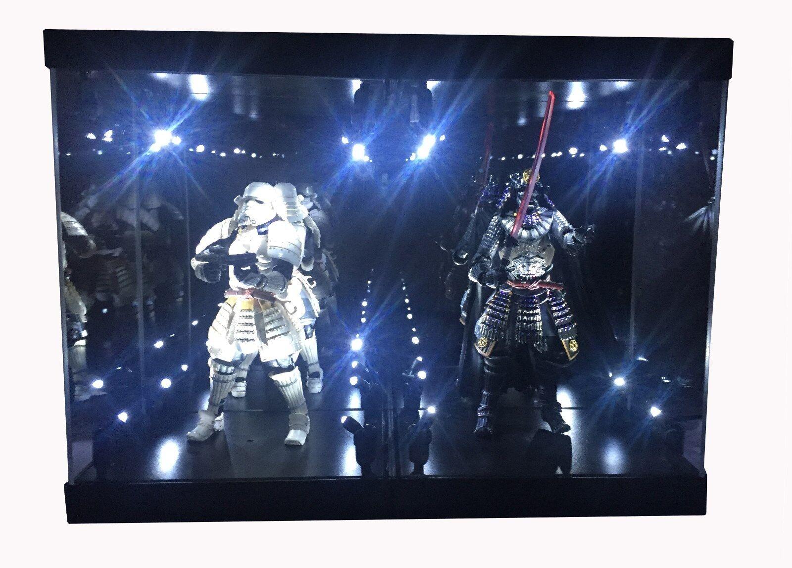 Caso de exhibición de acrílico Caja de luz para 7  18 cm Figura De Estrella Wars akazonae Royal Guard
