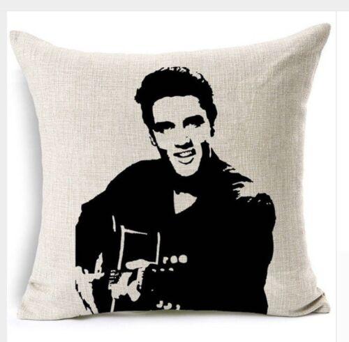 """Hollywood Rock Star Elvis Presley 17/"""" cubierta Cojín cuadrado Funda De Almohada Regalo Navidad"""