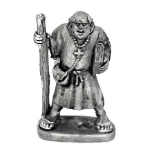 Monk-with-Staff-and-Book-Warhammer-Fantasy-Armies-28mm-Unpainted-Wargames