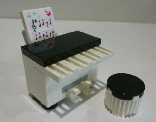 1 x LEGO® MOC Klavier mit Hocker und Notenfliese Neuware.