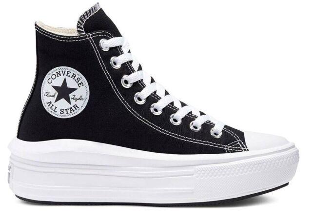 Sneakers Donna Converse Ctas Move Hi 001 tela Nero 568497c ...