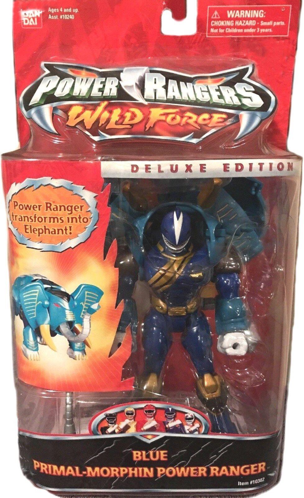 hasta 42% de descuento Power Rangers Wild Force Force Force 6  Elefante Azul Primal Morphin Nuevo Sellado De Fábrica 2002  ventas en linea