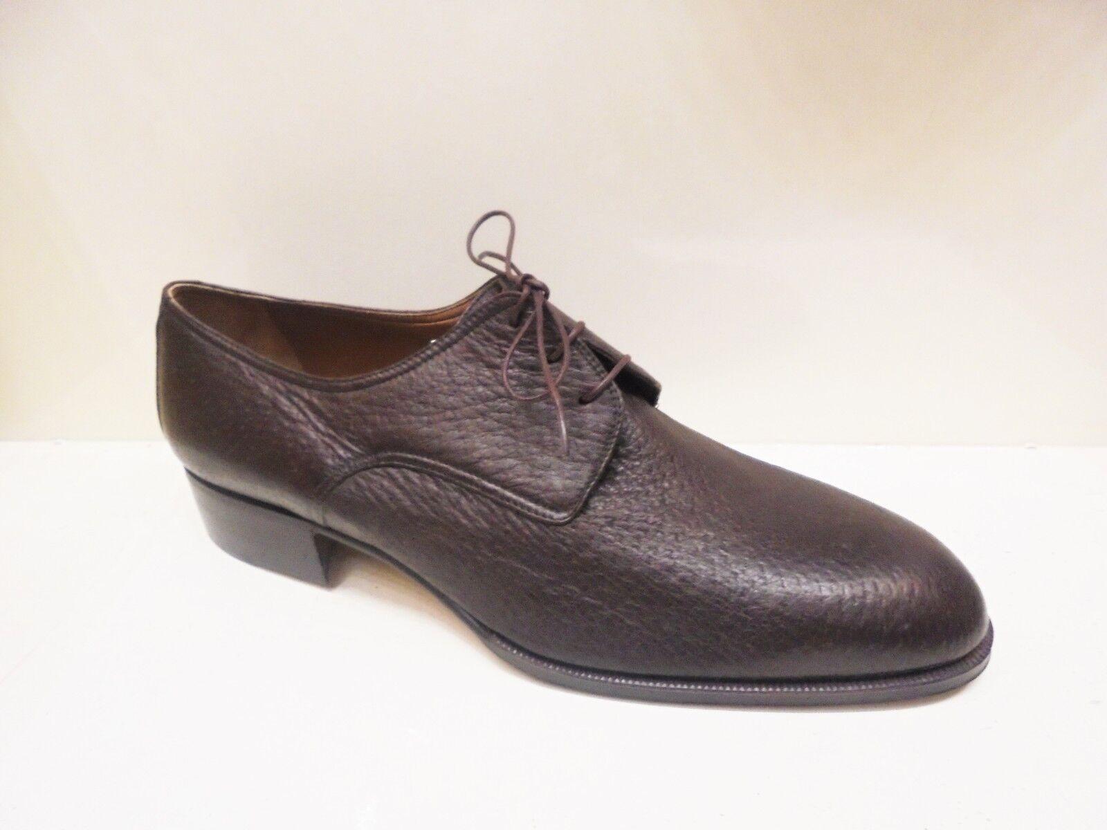 zapatos DA hombres MORBIDA E PREGIATA PELLE CERVO E CUOIO LUSSO ALTISSIMA QUALITA'