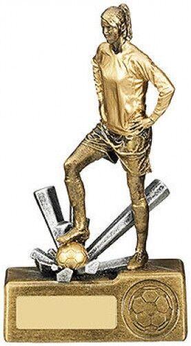 Krypton RF554 series HD resin womens//girls football trophies from £9.99