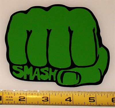 Marvel - Hulk Fist - Smash - HQ 2 Color Green on High Gloss Black Vinyl Decal!