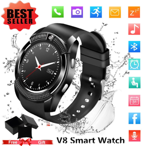 Details about V8 Bluetooth SmartWatch Phone Mate SIM & Camera & GPS For iOS  Android iPhone LOT