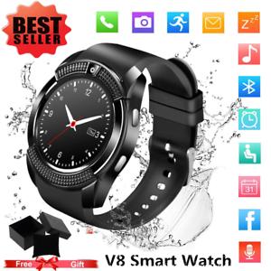 220e8efc9 Image is loading V8-Bluetooth-SmartWatch-Phone-Mate-SIM-amp-Camera-