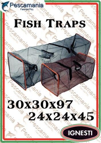 Trappola per pesci in rete maglia 2mm con tasca per la pastura alborella