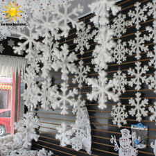 12Pcs New Classic White Snowflake Ornaments Christmas Holiday Party Home Decor R