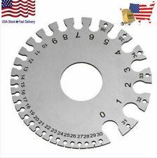 Stainless Steel Sheet Metal Wire Thickness Gauge Storage Sleeve Diameter Swg