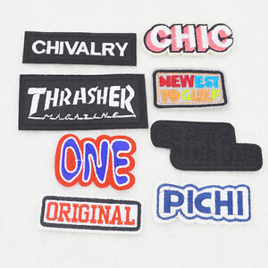 Theme-amp-number-Embroidered-iron-on-patch-sewn-applique-For-Clothing-TV-amp-Anime