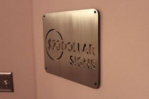 Details about 3 Custom metal signs, brushed steel business signs, novelty  signs